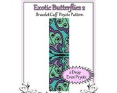 Bead Pattern Peyote(Bracelet Cuff)-Exotic Butterflies 2