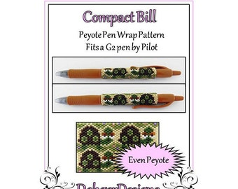 Bead Pattern Peyote(Pen Wrap/Cover)-Compact Bill