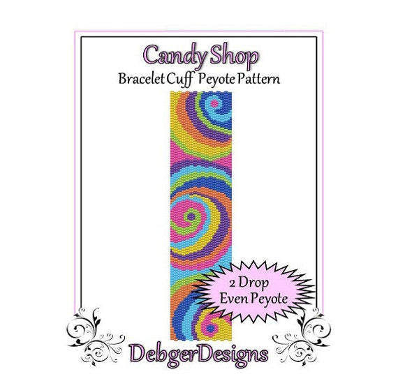 Bead Pattern Peyote(Bracelet Cuff)-Candy Shop