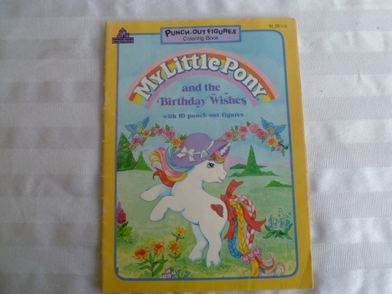 My Little Pony Birthday Wishes Coloring Book By