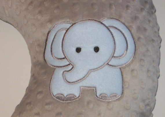 Animal Breastfeeding Pillow : Items similar to Boppy Slipcover, Boppy Cover, Elephant, Zoo Animal, Safari Animal, Minky ...