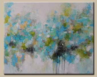 Light Blue abstract  painting,modean ,Acrylic painting, abstract painting, ORIGINAL  painting ,painting on canvas