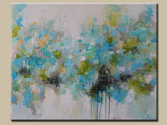 Light Blue abstract paintingmodean Acrylic painting