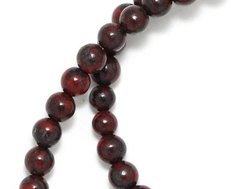 Brecciated Jasper Beads - 4mm Round