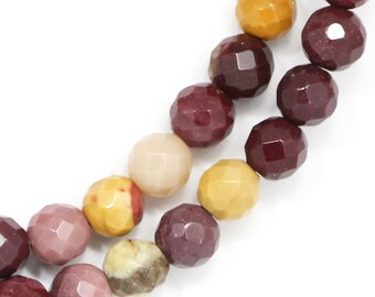 Mookaite Beads - 6mm Faceted Round