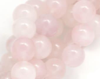 Rose Quartz Beads - 10mm Round - Full Strand