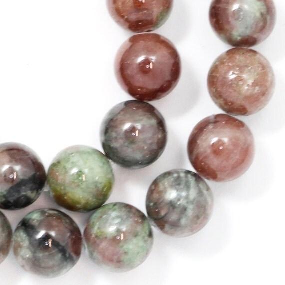 Kashgar Garnet Beads - 10mm Round - Half Strand