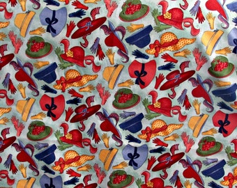 Novelty Robert Kaufman Fabric, Accessorize Cotton Quilting Fabric Hats Gloves