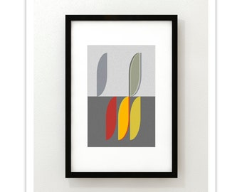 MODUS - VITALITY no2 - Giclee Print - Mid Century Modern Danish Modern Minimalist Cubist Modernist Abstract Eames