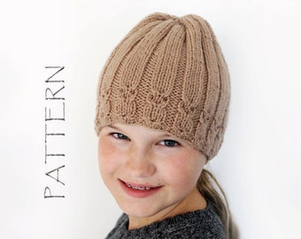 Owl Cabled Hat pattern - Beanie pattern
