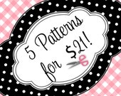 PDF Sewing Patterns for 18 Inch American Girls Dolls - Buy any 5