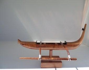 Miniature Cook Islands canoe