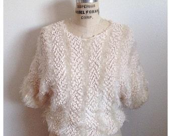 Vintage 1980s short sleeve sweater