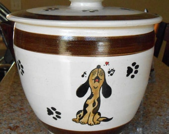 SALE!!! Singing For Supper - Treat Jar in Chocolate Brown (XXL)