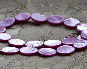 14x19mm Hot pink oval pearl Shell  loose beads,shell beads loose beads,shell beads,beads stone