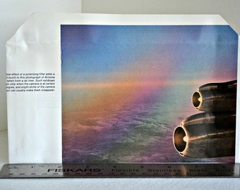 color photography envelope, airplane engines
