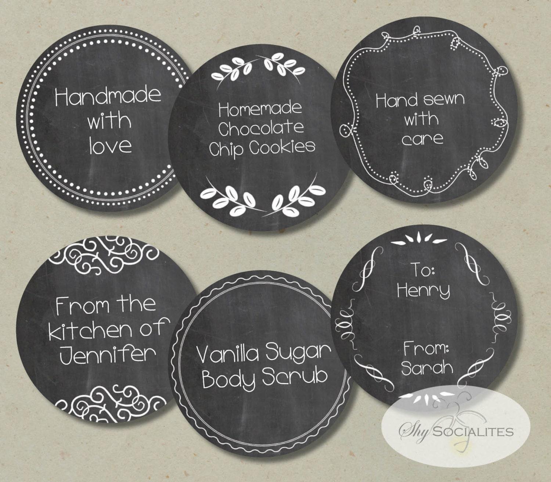 chalkboard labels or gift tags instant download printable. Black Bedroom Furniture Sets. Home Design Ideas