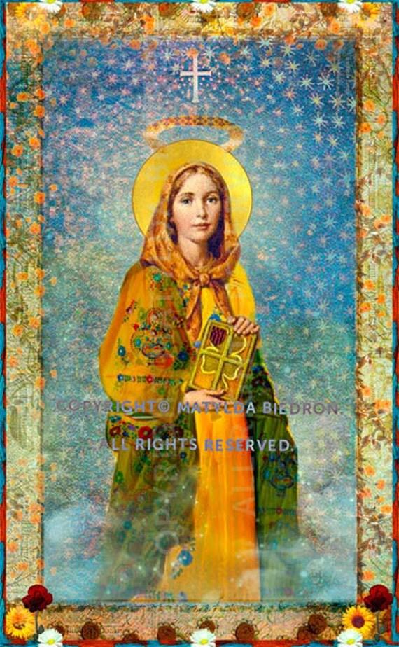 Saint Dymphna Holy Card