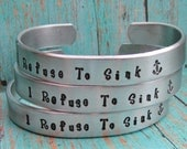 SET of 5 Custom Personalized Hand Stamped Cuff Bracelets Aluminum Toddler Child Teen Womens Made To Order