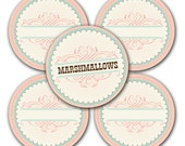 Old Fashion Sweet Shoppe Style Fillable Round Lables - Printable  - Wedding - Bridal Shower - Baby Shower - Birthdays