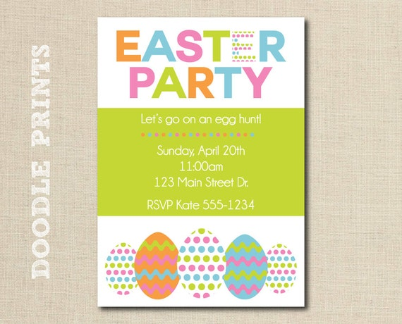 Printable Easter Party Invitation