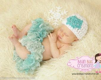 Ice Princess tutu / snowflake hat / snow princess / blue tutu / snow tutu / snow princess / infant tutu / baby tutu/ photo prop/ christmas