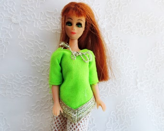 """Red Hair Dawn Doll by Topper 60's  -70's Tiny Fashion Dolls 6"""" High Free Shipping"""