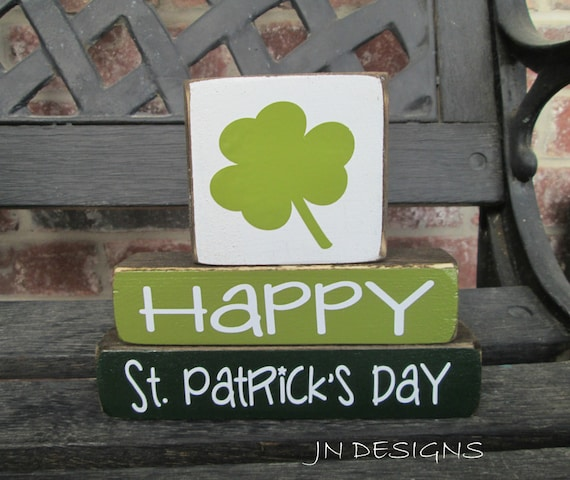 St Patrick's Day Wood Blocks St PAtty Day Stacker By Jjnewton