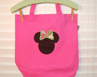 Pink Minnie Mouse Canvas Bag
