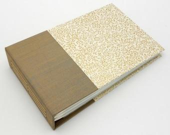 Mini Photo Album, Gold Mini Floral, holds 36 4x6 photos, In Stock