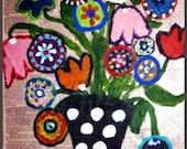 Folk Art Original Painting Flower