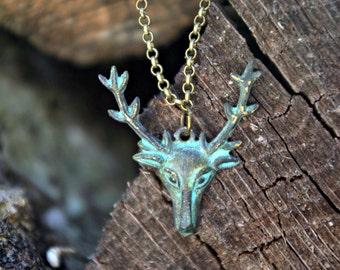 Oh Deer My Patina - Necklace
