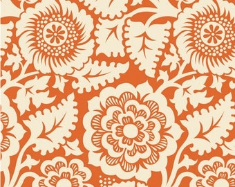 Blockprint Blockade Blossom in Amber (JD48) - HEIRLOOM - Joel Dewberry - Free Spirit Fabric - By the Yard