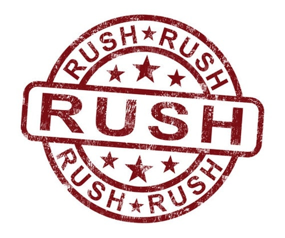 RUSH 1-2 Business Day Processing Add-On Upgrade