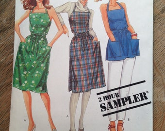 1983 McCall's Sewing Pattern 0012 Misses Wrap Jumper Dress Size 6-20-uncut-McCalls Pattern, Pattern, dress Pattern,wrap dress, McCalls dress