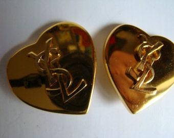 YSL Yves Saint Laurent  Initials Earrings