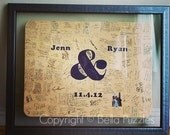 60 pc Wedding Guest Book Puzzle, guestbook alternative, wedding AMPERSAND puzzle guest book, Bella Puzzles™ rustic bohemian wedding