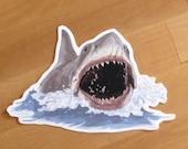 JAWS Mouth Waterproof Sticker