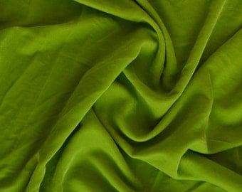 Velvet in Apple Green by the yard - V16