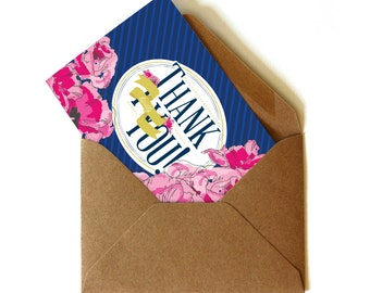 Derby Thank You Notes in Navy (30)