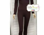 Brown-UNITARD /Adult ---Scoop Neck Long Sleeve Unitard.... COSTUMES/HALLOWEEN