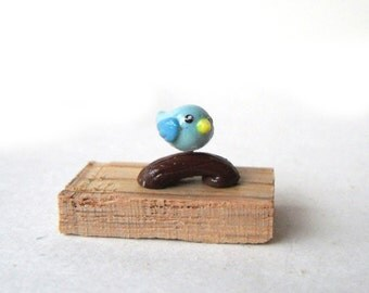 Adorable Polymer Clay Mini Forest Animal Figures - Birds / Owl