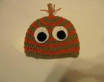 crochet moster hat, halloween hat, child hat, photo prop