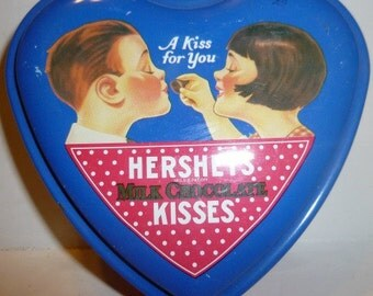 Hershey's Milk Chocolate Kisses Vintage Tin (empty), 1988