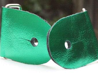 """2"""" Metallic Green Guitar Strap Kit"""