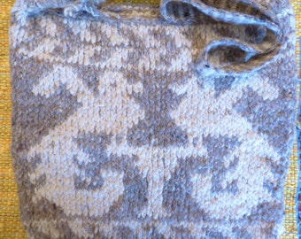 Unused Handmade Wool Large Knit Bag from Mexico