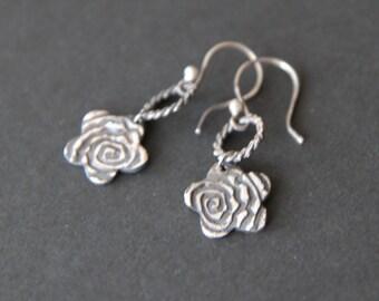Sterling silver flowers earrings