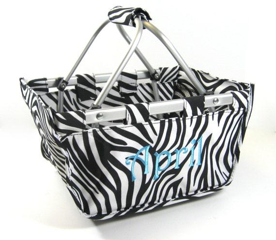 Zebra Mini Market Tote