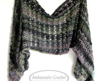Majestic Ivy Wrap Crochet Pattern PDF 206