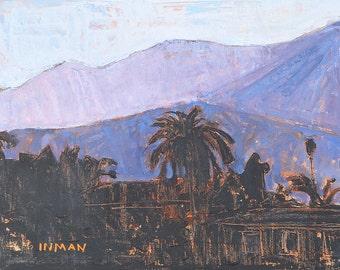 Santa Barbara Mountains Landscape Painting